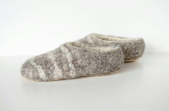 handmade handmade wool felt slippers unisex gray slippers wool Eco home Men home grey Felted slippers shoes white slippers shoes nazxqFwF