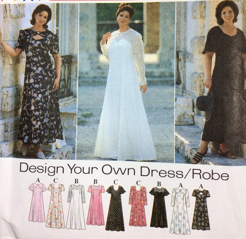 Simplicity 7163 Women\'s Dress Pattern, Wedding Gown, Evening Gown ...