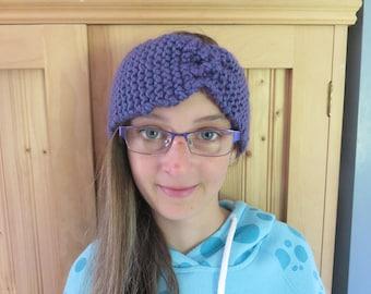 Women winter warm comfortable ear gift bow headband