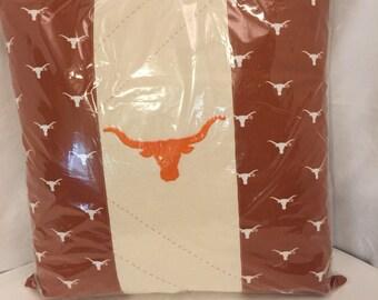 Texas Longhorn decorative pillow
