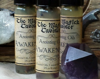 Awakening Oil to Stimulate your Psychic Core, Wicca Ritual Oils for anointing candles and stones, Witchcraft Supply, Wicca Supplies