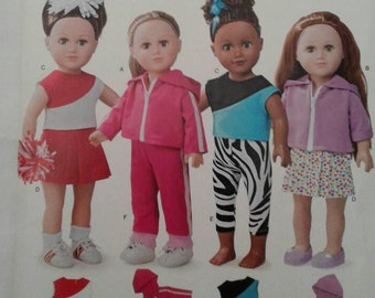 Simplicity Pattern A2019*OOP*RARE*...ACTIVEWEAR... Fits American Girl & other 18 inch dolls