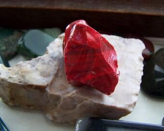Vintage Red Fire Glass Specimen