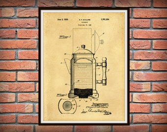 1930 Coffee Pot Patent Print - Kitchen Decor- Poster - Restaurant Decor - Coffee Shop Decor - Barista Gift - Coffee Lover Gift