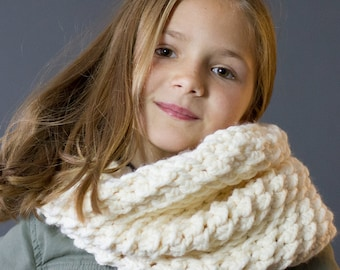 Crochet Cowl PATTERN The Wellington Crochet Cowl Includes 3 Sizes, Toddler, Child and Adult