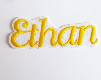 Patch name embroidery machine on request. For sale: Ethan