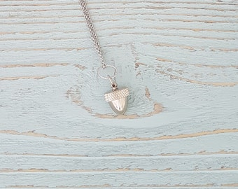 Silver Acorn Necklace - An Acorn with a Secret  Fall Fashion - Capsule Container  Pendant Necklace - Multiple Chain Lengths Available