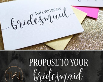 Will you be my Bridesmaid Cards - Bridesmaid Proposal - Will You Be My Maid of Honor Card, Wedding Cards , Bridal Cards, BC217