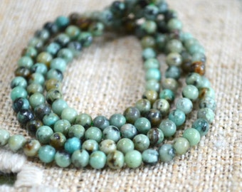 3mm African Turquoise Blue Natural Gemstone Beads Round 16 Inches Strand