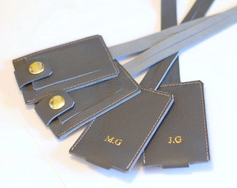 Personalized Luggage Tag, Customized Real Leather Luggage Tag, Travel Tag, Baggage Tag handmade from genuine leather