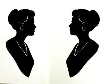 Duplicate silhouette