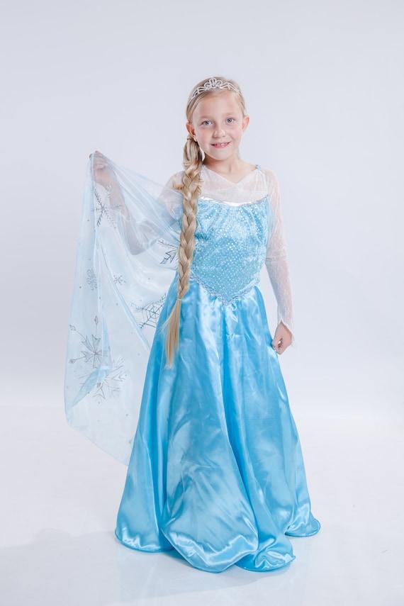 Gefrorene Kostüm blau Kleinkind Elsa Kleid Spitze