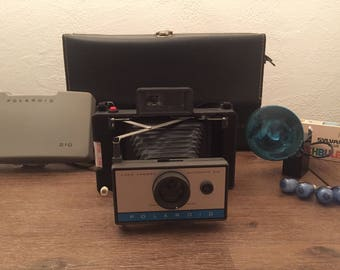 Vintage Polaroid 210 Camera - Tested and Functional - Battery, Bag, Flash and Bulbs - Wedding Gift, Anniversary, Party, christmas
