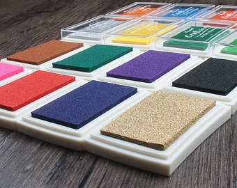 Craft ink pad oil based stamp pad used with rubber stamp - 15 colors - WR009