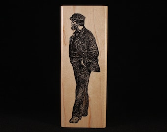 "Man Walking (1.5"" x 4.5"")"