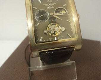 Minoir gents skeleton watch IN GREAT CONDITION! T22455-88 Automatic