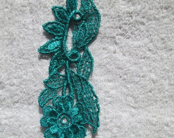 Turquoise/Green Applique