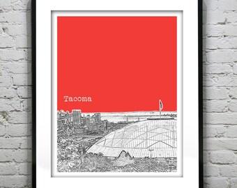 Tacoma Washington Poster Skyline Art Print  Item T1325