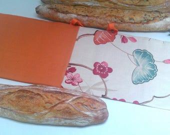 Bread, long canvas bag, shopping bag, chopsticks, bag, bag to keep bread, food bag, cotton tote bag