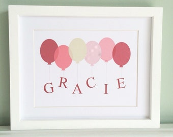 BALLOON Personalised Word Art Print (inc p&p)
