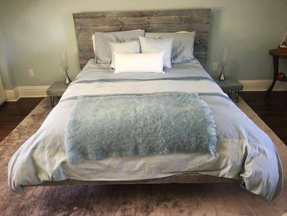 Floating Platform Bed, Platform Bed Frame, Platform Bed, Integrated Side  Tables, Reclaimed Wood Bed, Bedroom Furniture, Wood Bed