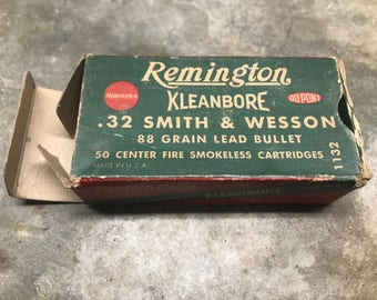 Remington Kleanbore .32 Smith and Wesson Empty Ammunition Box