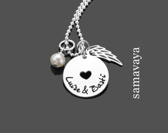 Name necklace we both 925 Silver necklace with engraving partners jewelry