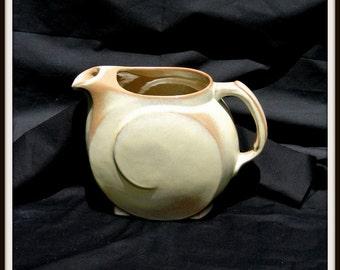 Frankoma Pitcher, Lazy Bones Style, Brown, Vintage Tea Pitcher, Water Pitcher, Kitchen Decor
