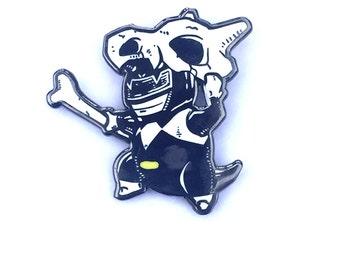 black pokeranger Cubone, a pokemon and power rangers mashup hard enamal hat pin
