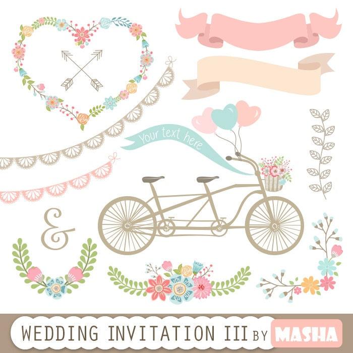 Wedding Invitation Clipart III: WEDDING INVITATION