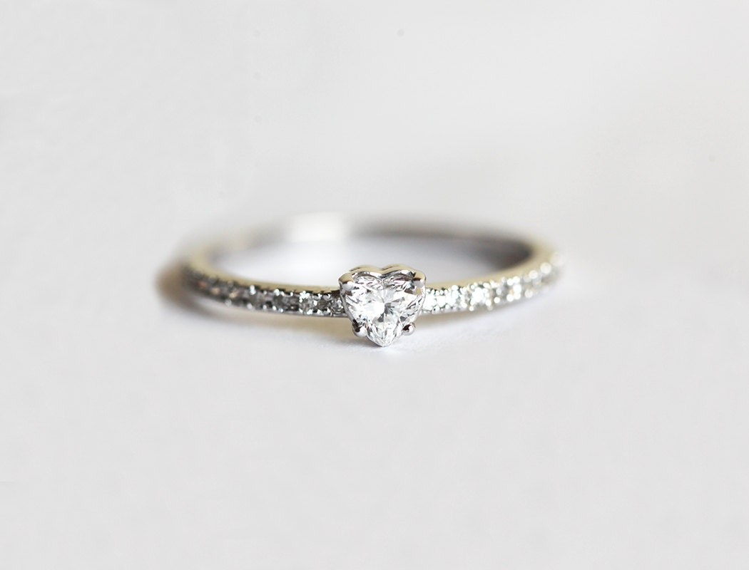 ring dainty stackable rings unique engagement media gift cluster diamond