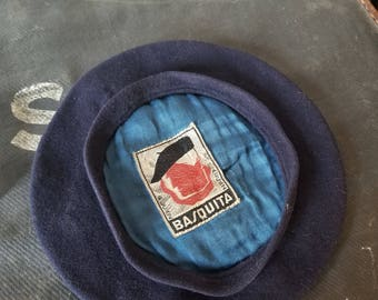 Vintage Alcaz Basquita Beret Basque Wool 52 cm XS