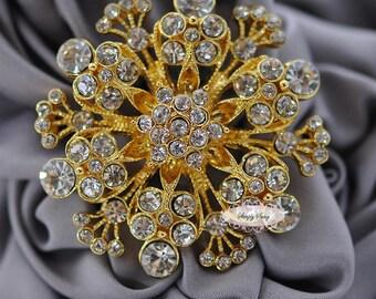 Rhinestone Brooch Embellishment - Flatback - Embellishment Buttons - Brooch Bouquets - Broach Bouquet Supplies - DIY Wedding - Jewelry RD190