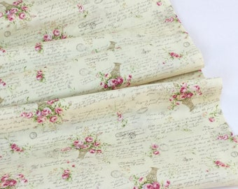 Rococo & Sweet Rose Bouquet ~ 31363-10 Cream Background  ~ Lecien Cotton