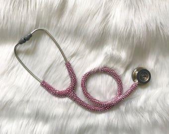 Bling stethoscope- bling littmann classic iii stethoscope- diamond bling stethoscope- crystal stethoscope- med student gift- nurse gift