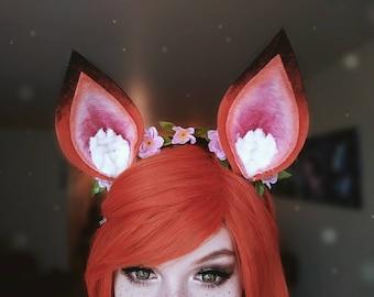 Fox Ears Cherry Blossom Flower Crown