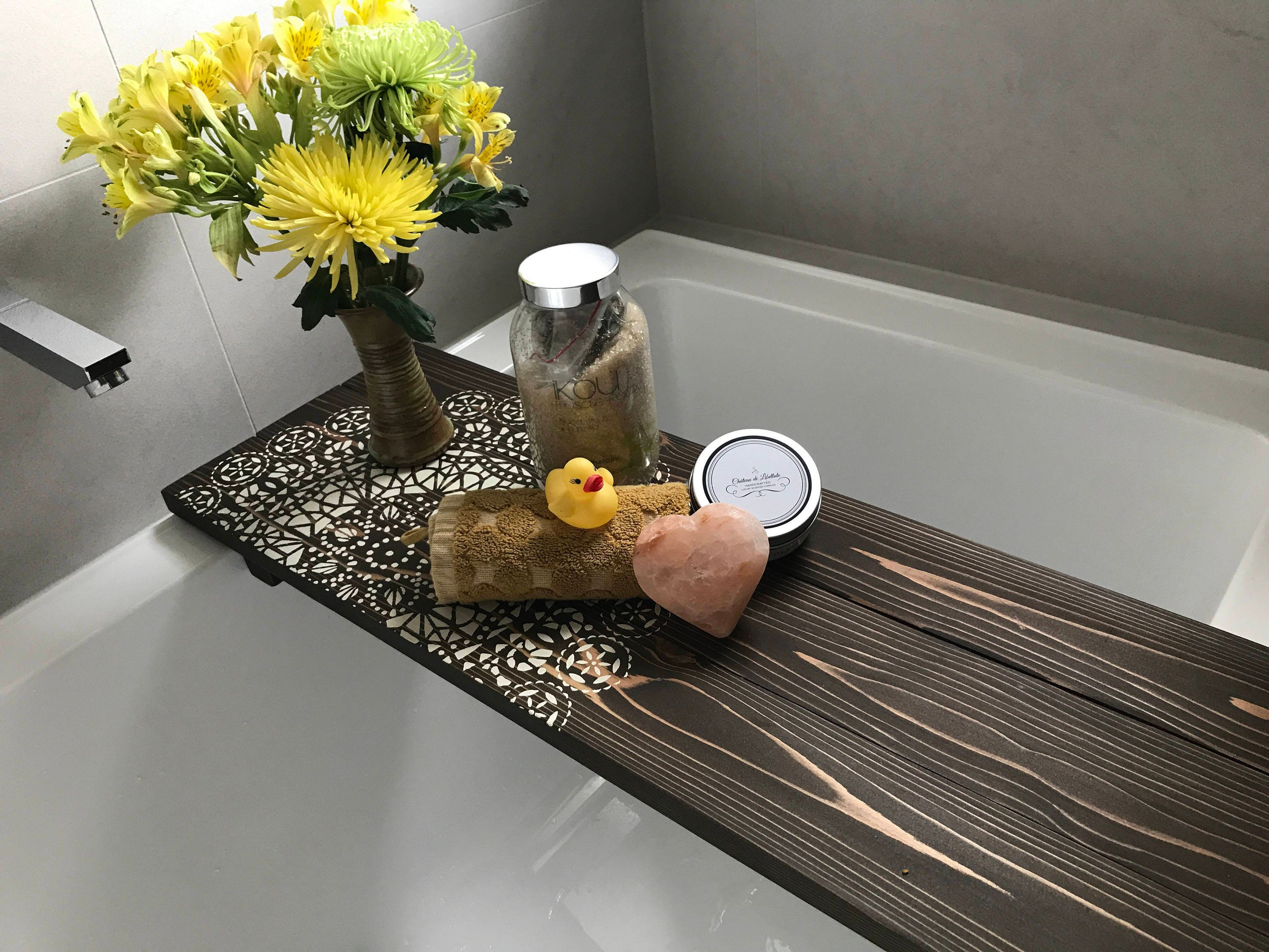 unhappy home me accessorizing this area refresh i bath how caddy remodeled with our a bathtub tray for of little bathroom functioning dsc tips because tub master when started became we my was holliday