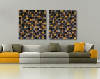2 Mosaics in 1 - Wood Wall Art - Wall Art