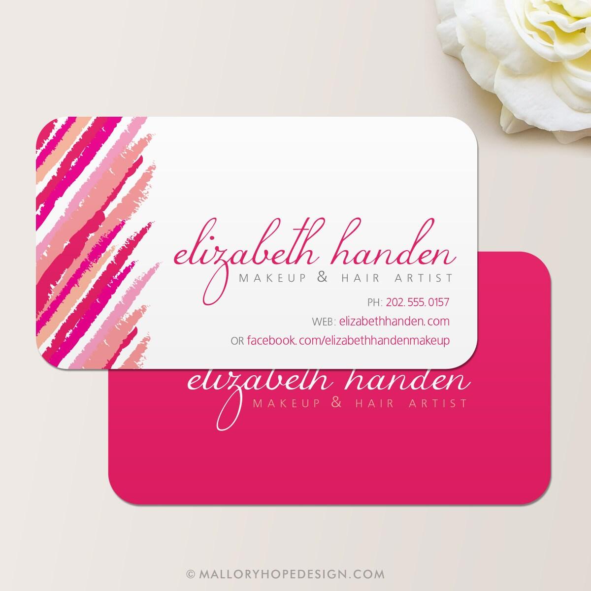 Makeup Artist Lipstick Business Card / Calling Card / Mommy