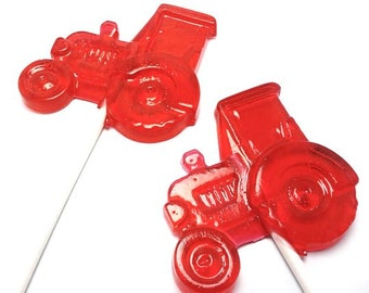 10 TRACTOR LOLLIPOPS - Pick Any Color and Flavor