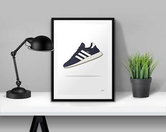 adidas Originals Iniki Navy Illustrated Poster Print | A6 A5 A4 A3
