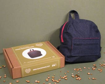 Mini Backpack Sewing Kit (also available with navy zips)