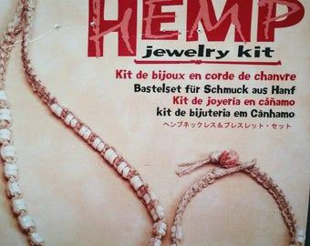 Macrame Hemp Necklace and Bracelet kit
