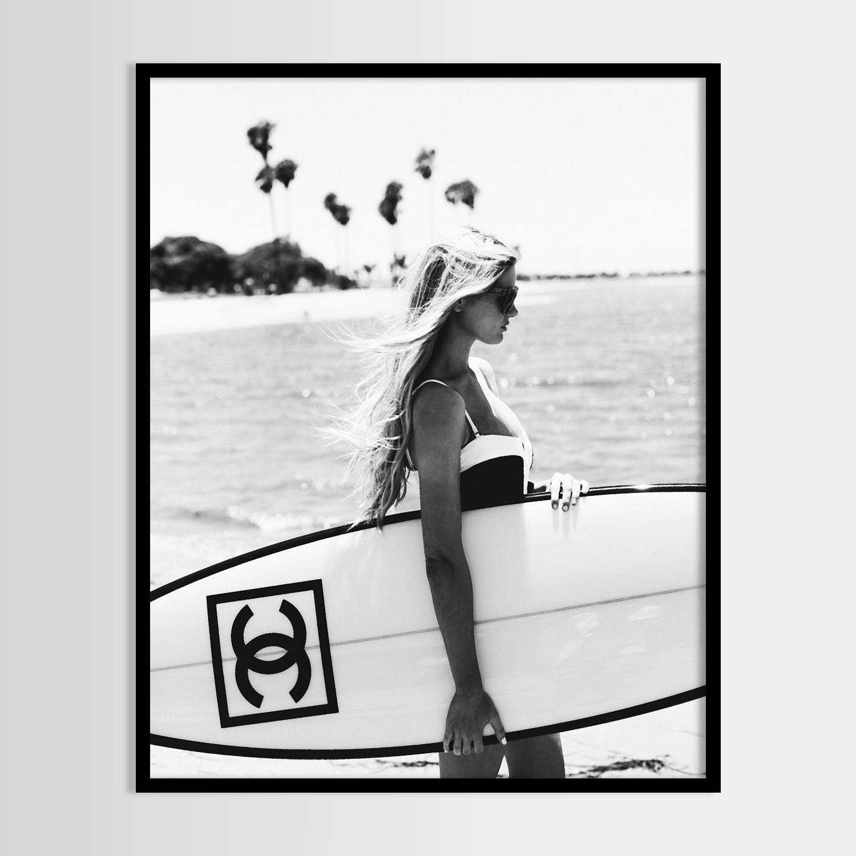 Chanel print Chanel Serfboard Mädchen Mode Druck moderne