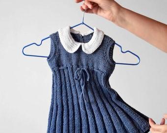 gestreifte sommer stricken baby kleid m dchen kleid kleid. Black Bedroom Furniture Sets. Home Design Ideas