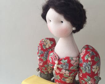 Pin cushion / handmade pin cushion / pin cushion doll / tilda doll / tilda pin cushion / doll pin cushion / pin cushion tilda / sewing lover