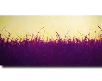 """Original art large abstract painting JMJartstudio violet  abstract painting   24"""" x 48"""" fathers day gift"""