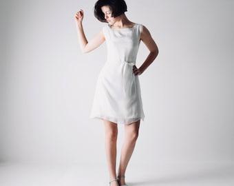 Short wedding dress, Casual wedding dress, Simple wedding dress, Reception dress, Tunic, Sheath, Modern, Boho wedding dress, White dress