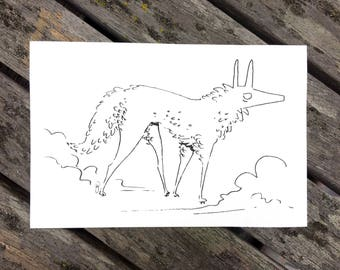 Mist Wolf Print