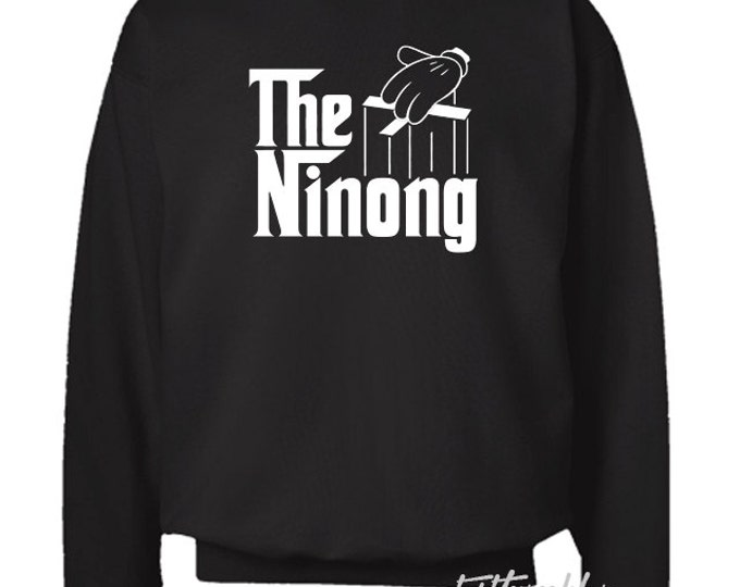 The Ninong Black Crewneck Sweater Filipino
